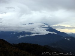 Mount Kinabalu from Tambuyukon at dusk